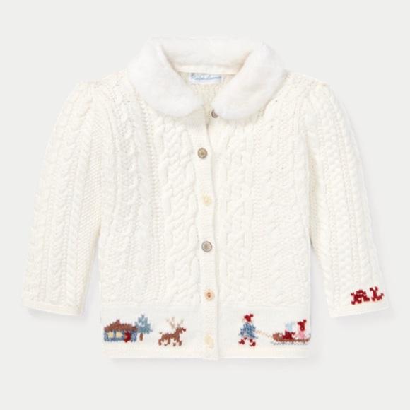 6d3ecda5a3 Ralph Lauren Shirts & Tops | Baby Girls Knit Cardigan Sweater | Poshmark